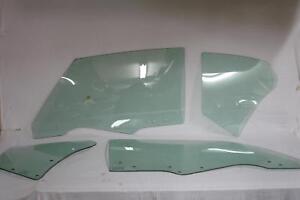 Glass 1970 1971 1972 Oldsmobile Cutlass 2DR Hardtop Door Quarter Set Dated Green