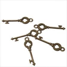 60x 141720 Wholesale Price Alloy Card Spade Key Charms Bronze Pendant 28x7x3mm