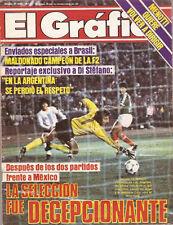 Soccer Maradona Argentina vs Mexico Mag 1985