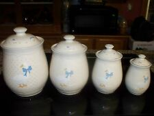 """TIENSHAN STONEWARE CANISTER SET """"AUNT RHODY"""""""