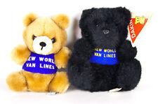 Dakin Teddy Bear New World Van Lines Advertising Plush Vtg 1978 Brown 1991 Black