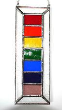 Art Glassware. Stained Glass Rainbow Panel Suncatcher