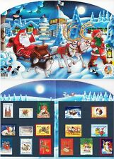 Finland Christmas Stamps (16) Folder MNH Reindeers Brownies Santa Claus Sold Out