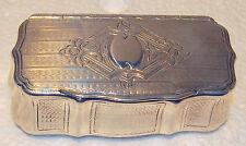 AUSTRIAN C 1890 GILT 950 STERLING PILL BOX ELEGANT HAND-CHASED WIRK SIGNED BY:MV