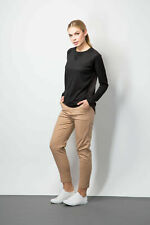 Ladies Chino Trouser Smart Black Work Occasion Formal Clothing Size 6-16