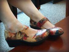 Alegria Women's 'Ella' Western Romance Mary Jane High Heel Clog Size 36