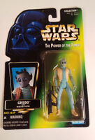 Star Wars Power of the Force Greedo Action Figure Green Card Sealed 1996 Vintage