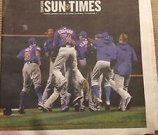 NEW Chicago Cubs Chicago Sun Times Newspaper World Series 11/3/2016!