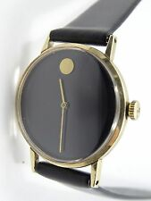 RARE 50's NATHAN GEORGE HORWITT SOLID 14K GOLD MOVADO MUSEUM LADIES WATCH