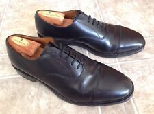 LOAKE Shoemakers 200B Black Leather Cap Toe England Hand-made Shoes 9 M