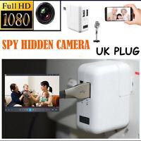 Magic 2 Port USB 1080P HD Mini Camera Wall Charger Video Hidden UK PLUG 2020 sdf