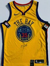 KEVIN DURANT SIGNED NIKE GOLDEN STATE WARRIORS BASKETBALL JERSEY PSA/DNA MVP!