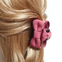Handmade Solid Color Mini Bow with Top Grip Bow Hair jaw Claw