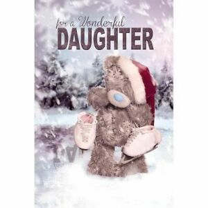3D Holographic Daughter Me to You Bear Christmas Card - Tatty Teddy