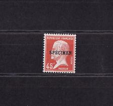 timbre France  type Pasteur 45c  rouge surchargé  spécimen   NUM: 175-CI  1  **