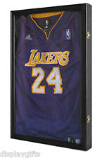 Basketball, Junior size Football Jersey Display Case  Wall Frame JC03-BLA