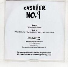 (GV182) Cashier No9, When Jackie Shone - DJ CD