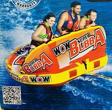 Super Bubba, 1-3 Person Towable Deck Seat Towable and Air Max Pump 2.0 Psi 120V