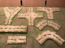 """28mm,  3"""" (rural) expansion Road Set, 19pc  PAINTED"""