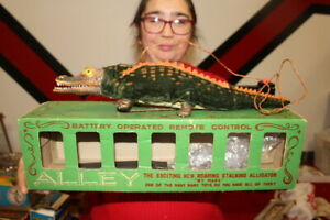 Vintage Marx Alley Alligator Remote Controlled Battery Op Japan Toy Sign W/Box
