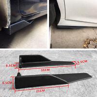 2Pcs Car Side Skirt Rocker Splitters Winglet Wings Canard Diffuser Anti-scratch