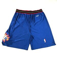Philadelphia 76ers Reebok NBA Basketball Shorts Blue Size 36 Embroidered