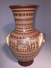 Handmade Ancient Greece Art 8� Clay Vase Replica Attic 800 Bc Funeral Scene