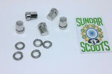 VESPA PX TUBELESS WHEEL RIM DOMED NUT KIT STAINLESS STEEL FOR VESPA PX SCOOTERS