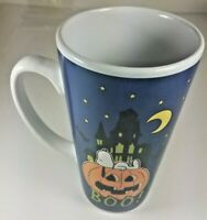 Peanuts Snoopy & Charlie Brown On Pumpkin Halloween Boo Coffee Cup Mug 6'' Tall
