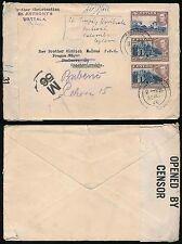 CEYLON to CZECHOSLOVAKIA WW2 CENSORED JULY 1945 + M56...ST ANTHONYS WATTALA