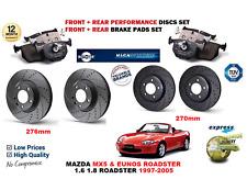 Para Mazda MX5 Eunos 1997-2005 Delantero Trasero Performance Juego de Discos