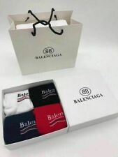 NEW BALENCIAGA2² cola striped cotton socks men's sports socks 4pairs