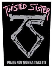 TWISTED SISTER - Rückenaufnäher Backpatch