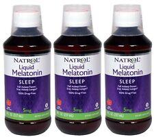Natrol Melatonin 5 mg Sleep Liquid Berry 8 fl oz (Pack of 3)