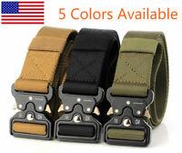 "49"" Men Tactical Buckle Belt Military Nylon Belt Training Strap 125cm"