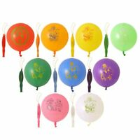 10 Large Punch Balloons with Elastic Multi Coloured Loot Bag Party Fillers Toys