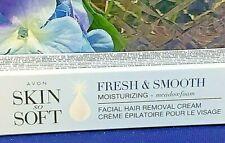Avon Skin so Soft Fresh & Smooth Facial Hair Removal Cream 1 oz 2 tubes