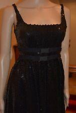 ICEBERG BLACK SEQUINS DRESS EX SMALL NWT 1475 EUROS!!