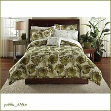 Queen Tropical Exotic Palm Grove Reversible Comforter Sheet Set Coastal 8 Pieces