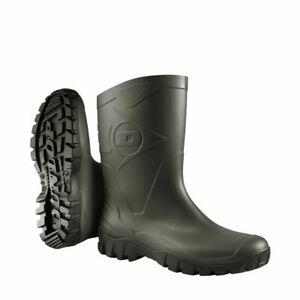 Ladies Men Dunlop Wellington Boots Short Wide Calf Rain Garden Farm Wellies Size