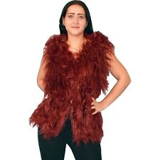 Puschelige fur Vest S-L Hair Faux Fur Top Retro Vintage Jacket