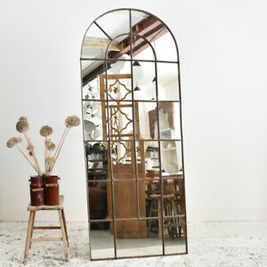 Industrial Vintage Large Arched Reclaimed Window Mirror