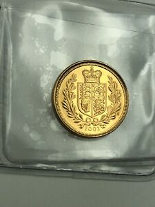 2002 Gold Shield Half Sovereign