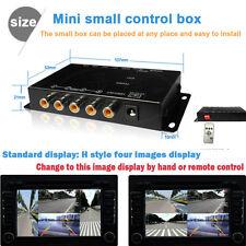 Car IR Control 4-Way Video Switch Parking Camera 4 View Split-Screen Control Box