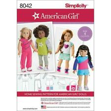 "Simplicity 8042 American Made 18 Inch Sewing Pattern for 18"" Girl Doll Clothes"