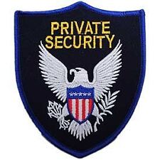 """Private Security Officer Eagle Shield Patch Gold & Black (4-1/2"""")"""