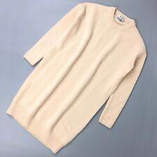 70cc73d841f Acne Studios Women Cream Phebe Shet Wool Oversized Jumper Short Day Dress  Size S