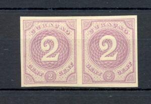 DUTCH WEST INDIES-CURACAO-1889 -2 Ct # 14 -PAIR --PROOF (*) CHOSEN COLOUR VF @1