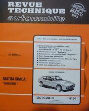 NEUVE DE STOCK !!!! Revue technique MATRA SIMCA BAGHEERA RTA 341 1974 504 A112