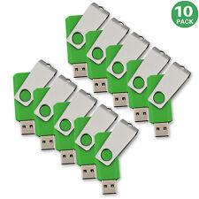 10 Lots 16GB USB Flash Drive Anti-skid Flash Memory Stick Swivel Pen Drive